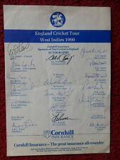 More details for england cricket tour -  west indies 1990 - autographs