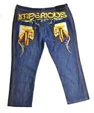 Imperious Delf Trading Inc Men's Jeans With Skulls Waist 44 Length 32 Loose Fit