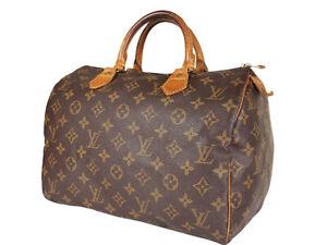 LOUIS VUITTON Speedy 30 Monogram Canvas Leather Hand Bag LH3681