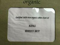 4pcs Organic Cotton Bed Sheet Set 600 TC, Light Pink King