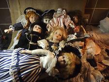 D'Occasion colection 8 poupées 14in haute
