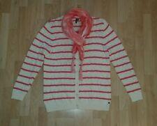Cardigan Strickjacke Cecil Gr. XXL creme lachs-rosa passener Schal Tuch *TOPP*
