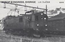 AK UNREAD Morop Congress Sweden litt. DU2 308 Baden Model järnvägs (G2569)