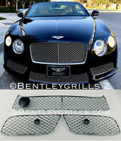 Bentley GTV8 GTC V8 Chrome Complete Upper and Lower Grille Set MANSORY