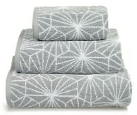 Allure Luxury Soft Jacquard Design Natural Cotton Bathroom Geometric Bath Towel