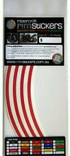Red Motorcycle Rim Stickers