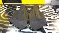 First Xpert Performance Gear Mens M Leather Vest Motorcycle Biker Style Gd Cond