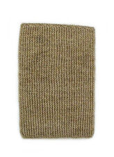 "HAND KNIT BEIGE, RECTANGULAR, SOLID TONE NATURAL FIBER FLOOR MAT - 18"" x 28"","