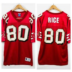 49ers Jerry Rice #80 NFL Champion Brand Vintage Jersey 80s Made In USA Sz LARGE
