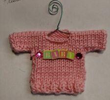 Baby Girl Themed Mini Sweater Christmas Ornament