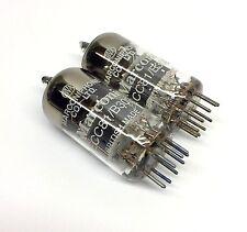 Matched Pair  ECC81  B309  Ring getter NOS Marconi  UK  Valve Tubes