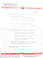 Letter Carl Metropolitan Photo Supply Ri to Mr Manzotti re. Rolleiflex Used B14