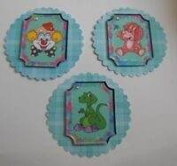 PK 3 KIDS TOPPERS SET 2  EMBELLISHMENT TOPPERS FOR CARDS AND CRAFTS