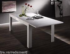 Tavolo da pranzo allungabile AMALFI cucina sala salotto 160/180cm Laccato Bianco