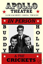 Buddy Holly & Crickets at the  Apollo Theatre in Harlem  Concert Poster 1957