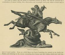 ANTIQUE WINGED PEGASUS HORSE DOLPHIN OCEAN WAVES ROGER & ANGELICA NUDE PRINT