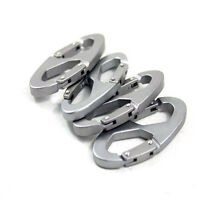 5PCS/Set Camping Hiking Carabiner Buckle Clip Hook 8-Shaped Key Chain
