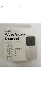 New WYZE Wired Video Doorbell Camera with Chime Front Door Porch Security