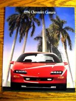 1996 Chevrolet Chevy Camaro, RS Z28 Deluxe Brochure, Colors Specs
