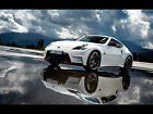 "WHITE NISSAN 370Z REFLECTIONS A3 FRAMED PHOTOGRAPHIC PRINT 15.7""x11.8"""