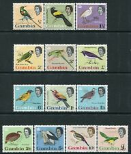 GAMBIA-1963 Birds Set to £1 Sg 193-205  MOUNTED MINT V22521