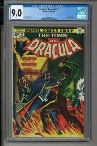 Tomb of Dracula #21 - CGC 9.0 - Blade appearance