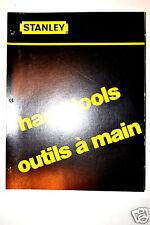 92 pg STANLEY HAND TOOLS OUTILS A MAIN DEALER CATALOG #RR204 hammer chisel plane