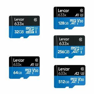 Lexar 32GB 64GB 128GB 256GB 512GB 100MB/s Class10 A1 SDXC Micro SD Speicherkarte