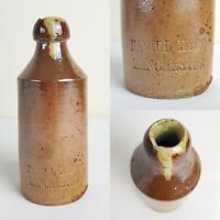 Antique Stoneware Ginger Beer Bottle Daniel Hyde Manchester 7""