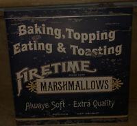 Dean White Mallow Company Nostalgic Firestone Marshmallow 1 1/2 Lb. Tin Only