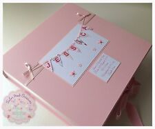 Personalised Baby Bunting Keepsake Box, Memory Box. GIRL's PINK New Baby Gift