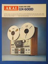 AKAI GX-600D R2R SALES BROCHURE ORIGINAL FACTORY ISSUE THE REAL THING     v1