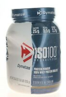 Dymatize ISO 100% Hydrolyzed Protein Powder / 1.6 Lbs 24 Servs  COOKIES & CREAM
