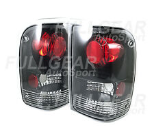 BLACK w/ CLEAR LENS ALTEZZA TAIL LIGHT PAIR SET FOR FORD RANGER PICKUP 1993-1997