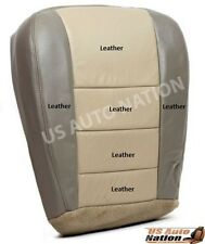 2003 2004 Ford Excursion Eddie Bauer Driver Bottom Leather Seat Cover 2 Tone Tan