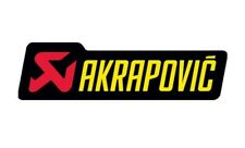 "AKRAPOVIC  Metal 4"" 3D Brushed Aluminum Emblem Decal Logo Letter Fairing Sticker"
