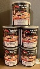 (5) Cans #10 Mountain House Freeze Dried Foods  Best By (2036)