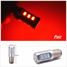 2X 1157 LED Red Flash Strobe Blinking Alert Safety Brake Tail Stop Light Bulb