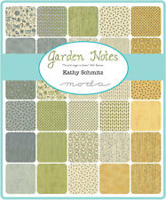 "Garden Notes Mini Charm Pack By Moda; 42 - 2.5""  Fabric Squares"
