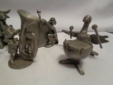 Hudson Sculpted Pewter Animal Music Band Monkey Hippo Dog Rabbit Etc