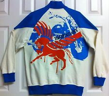 RARE*8732*Vintage Embroidered Jacket*Motorcycle & PEGASUS FLYING HORSE*L*Chest49