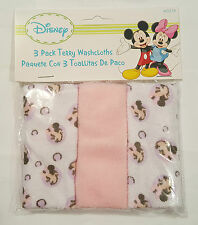 DISNEY**3 PACK TERRY FACEWASHERS** MINNIE**MICKEY**PLUTO