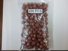 200 brown round wood macrame , hair beads, dreadlock, jewelry spacer much more