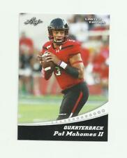 2017 LEAF LIMITED EDITION #13 KANSAS CITY CHIEFS PAT PATRICK MAHOMES RC NM-MT
