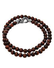Stephen Webster Thorn double wrap bracelet Bulls eye beads & black sapphire