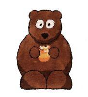 Flair Bertie ours enfants Tapis en marron 60cm x 90cm (2ft x 3ft)