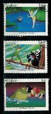 Grenada  :Walt Disney /  Peter Pan - 3 valori usati in ottime condizioni