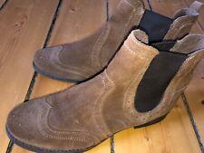 Alfredo Giantin Chelsea Boots Veloursleder blau
