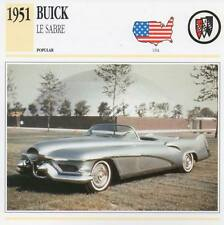 1951 BUICK LE SABRE Classic Car Photograph / Information Maxi Card