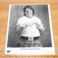 Rowdy Roddy Piper official original 8x10 wcw wwe wwf promo photo 1989